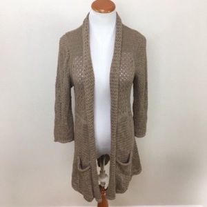 Anthro Angel Of North Open Knit Cardigan Sweater